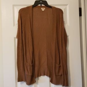 Mossimo Brown Knit Cardigan